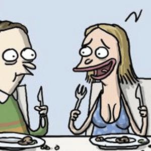 Fællesspisning i forsamlingshuset